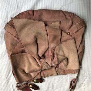 Vintage YSL Yves Saint Laurent pink suede bag